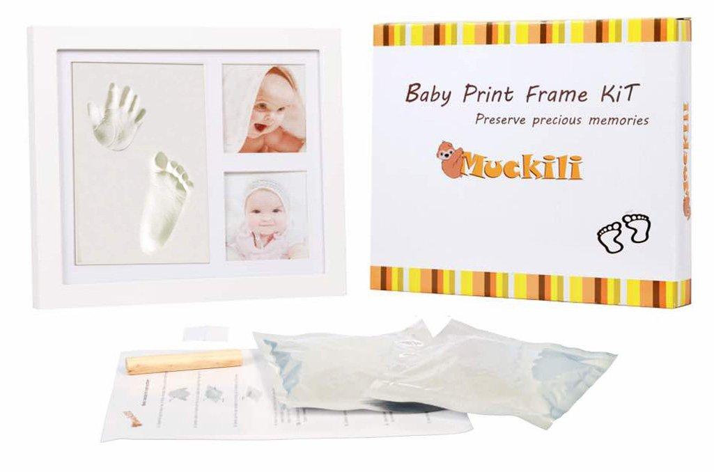 Muckili marco de fotos para bebé – marco huella de mano y