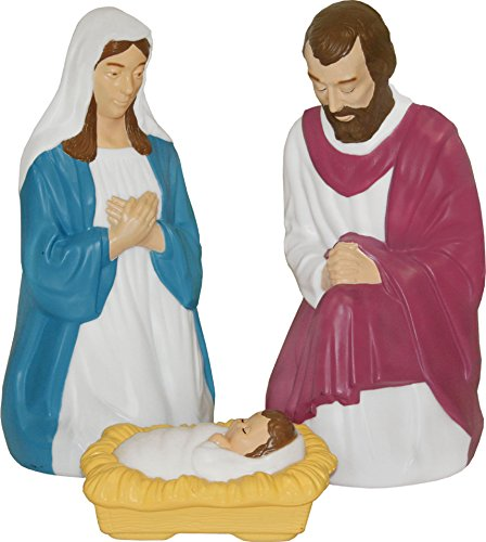 Outdoor Lighted Manger Set - 1