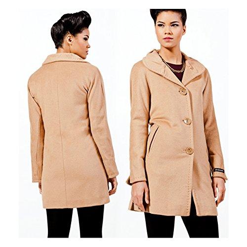 Angora Wool Coat - Ellen Tracy Women's Angora Wool Coat (12, camel)