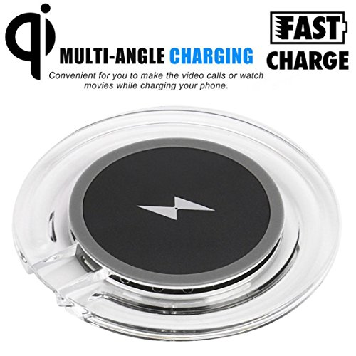 For Samsung Galaxy S9,S9 Plus,Tuscom New Portable Qi Wireless Power Fast Charger Charging Pad, Power transform efficiency 72%,For Samsung Galaxy NOTE 8,S8,S8 Plus,S7/ (Black)