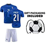 Fan Kitbag Italy Pirlo #21 / Verratti #10 / Buffon #1 Soccer Jersey & Shorts Kids Youth Sizes ✓ Soccer Backpack INCLUDED