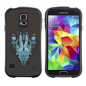 Be-Star Impreso Colorido Diseño Antichoque Caso Del iFace Primera Clase Tpu Carcasa Funda Case Cubierta Par Samsung Galaxy S5 SM-G900 ( Abstract Face )