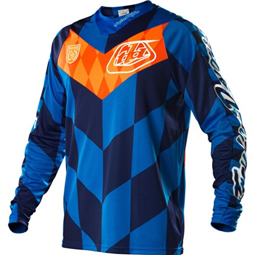 Troy Lee Designs SE Checker Men's Motocross/Dirt Bike Motorcycle Jersey - Blue / Large