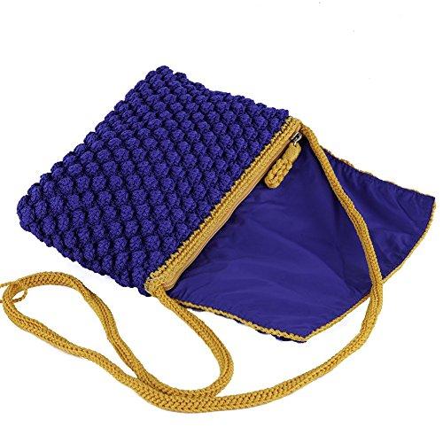 Borsa clutch, Giovanna Blu, in cotone