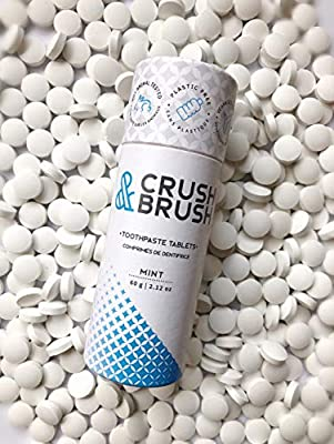 CRUSH AND BRUSH Toothpaste Tablets - MINT - 2.12 oz