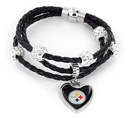 aminco NFL Pittsburgh Steelers Braided Cord Bracelet -