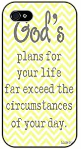 "iPhone 6 (4.7)"" God's plan for your life far exceed the circumstances of your day - Bible verse black plastic case / Christian Verses hjbrhga1544"