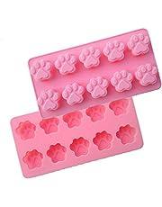 Vikenner 10 Cavidad Gato Pata Impresión Molde de Pastel de Silicona Fondant Caramelo Dulce Pastel de
