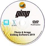 GIMP 2019 Photo Editor Premium Professional Image Editing Software CD for PC Windows 10 8.1 8 7 Vista XP, Mac OS X & Linux - Full Program & No Monthly Subscription!