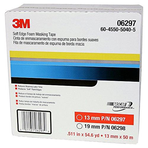 3M Soft Edge Foam Masking Tape, 06297, 13 mm x 50 m