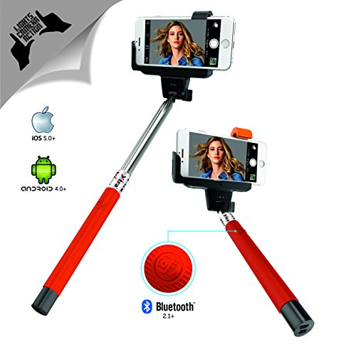 Xtra Extendable Selfie Stick Bluetooth Monopod with Built-In Shutter Button|Wireless Telescoping Stick with Adjustable Holder for iPhone & Android Devices|Handheld & Portable for Perfect Shots Polaroid Ipod