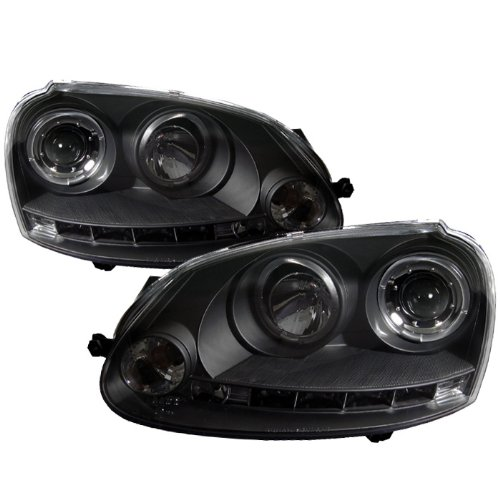 Spyder Auto PRO-YD-VG06-HL-BK Volkswagen GTI/Jetta/Rabbit Black Halo LED Projector Headlight ()