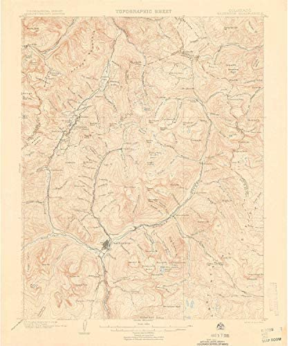 20 x 16.8 in 1:125000 Scale Historical 30 X 30 Minute YellowMaps Knoxville TN topo map 1895