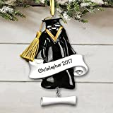 """GiftsForYouNow Graduation Cap & Gown Personalized Ornament, Resin, 3"""" x 4.5"""""""