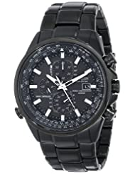 Citizen Men's AT8025-51E World Chronograph A-T Analog Display Japanese Quartz Black Watch