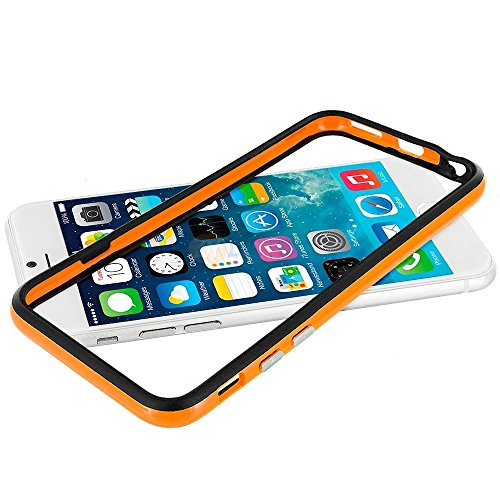 Better Quality Iphone 6 Silicon Bumper Orange Black by G4GADGET®