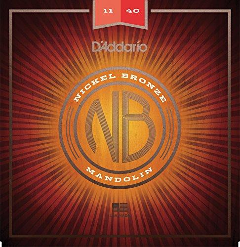 D'Addario NBM1140 Nickel Bronze Mandolin Strings, Medium, 11-40 ()