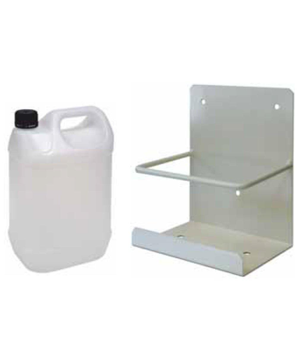 Bidon 5 litros para condensador + soporte. Ú til para aire acondicionado Mercatools