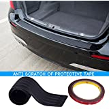 Rear Bumper Protector - Rear Bumper Guard Rubber Rear Guard Bumper Protector,Prevent Scratches While Unloading and Loading | fits most cars,Easy D.I.Y. Installation(35.4 inch)