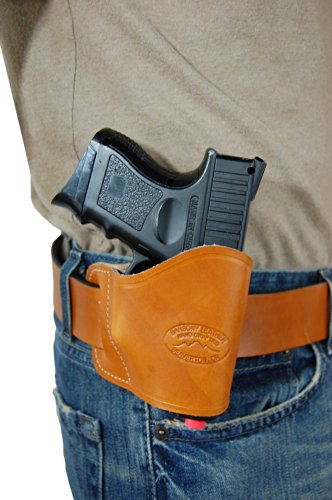 Barsony New Saddle Tan Leather Yaqui Style Gun OWB Holster for Ruger SR9C SR40C Left (Best Owb Holster For Ruger Sr9c)