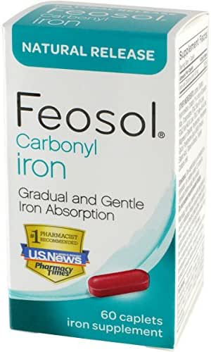 Feosol Natural Release, Carbonyl Iron, 45 mg, 60 Count