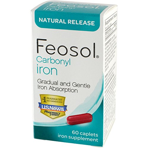 (Feosol Natural Release, Carbonyl Iron, 45 mg, 60 Count)