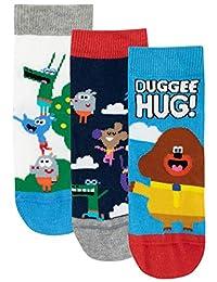Hey Duggee Boys' Squirrel Club Socks Pack of 3