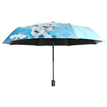 Shirleyle Mini paraguas compacto Sun & RainTravel ligero paraguas portátil plegable al aire libre protección UV
