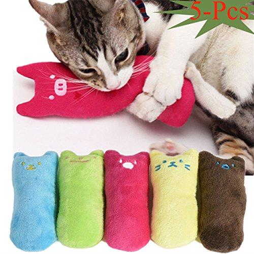 Legendog Spielzeug mit Katzenminze, 5 Stück Niedlich Plüsch Daumen Geformt Katzenspielzeug Katzenminze Set | Katzenspielzeug Beschäftigung | Spielzeug Katze | Spiele für Katzen Kitten
