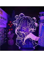 Mijn Hero Academia LED Nachtlampje 3D Illusie Anime Karakter Hiimiko Toga Lamp USB Afstandsbediening 16 kleuren Led Verlichting met Touch Schakelaar Bureaulamp Thuis Slaapkamer Decoratie voor Kids Jongens Meisjes Gift