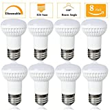 (Pack of 8)Dimmable E26 Base 7W R16/R14 Bulb,Small Base Bulb,Natural White 4000K,120 Degree,70W Incandescent Replacement,Table Lamps,indoor led bulb Shatter resistant oms and Pendants