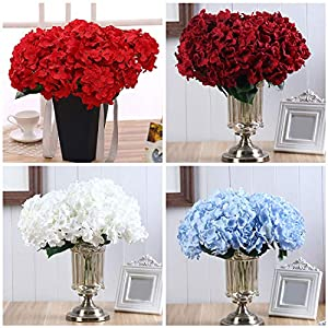 Artificial & Dried Flowers - 6 Heads Silk Diy Flower Peony Rose Artificial Hydrangea Mariage Home Decoration Decorative - Accessories Flowers Young Kids Soap Fiancé Room Girlfriend Bulk Deli 98