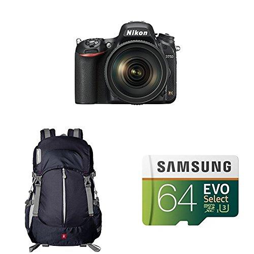 Nikon D750 FX-format Digital SLR Camera w/ 24-120mm f/4G ED VR Auto Focus-S NIKKOR Lens by Nikon