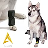 Agon Dog Canine Front Leg Brace Paw Compression Wraps With Protects Wounds Brace Heals and Prevents Injuries and Sprains Helps with Loss of Stability caused by Arthritis (Small/Medium)