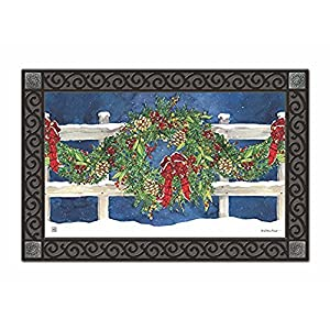 "Winter Wreath Matmate Doomat, 18"" x 30"" 1"