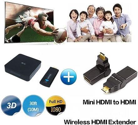 Medy W2H Mini Transmisor y Receptor de Vídeo HDMI inalámbrico para ...