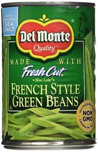Del Monte French Style Green Beans - with Sea Salt 14.5 oz. (Pack of 2)