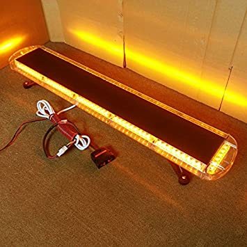 VSLED Mini Lightbar 10 cm Light Bar Recovery LightBar Flashing Beacon Light Emergency Strobe LightBar Amber LED Light