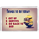 Minion Chararctor To Do List Get Up Suvivve Bed Quotes Saying Gift Present Novelty