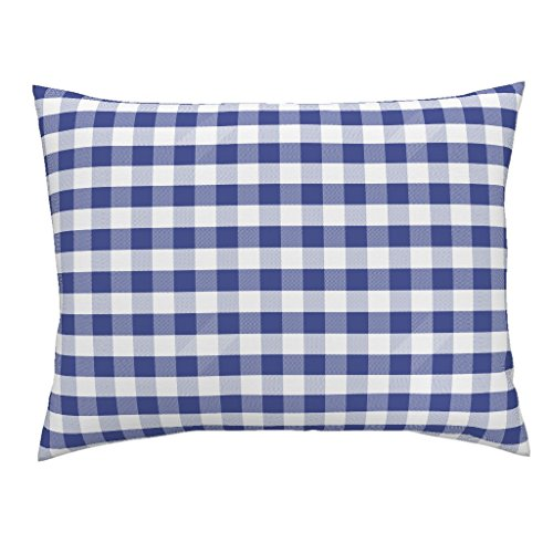 Gingham Standard Sham - Roostery Florida Gators University Sports Football Colleges Gingham Euro Knife Edge Pillow Sham Gingham Florida Orange and by Charlottewinter 100% Cotton Sateen