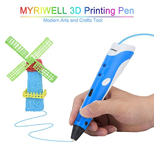 Myriwell 3D Pen DIY 3D Printer Pen Drawing Pens 3d Printing Best for Kids with ABS Filament 1.75mm Christmas Birthday gift by MYRIWELL