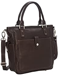 Piel Leather Tablet Shoulder Bag Cross Body, Chocolate, One Size
