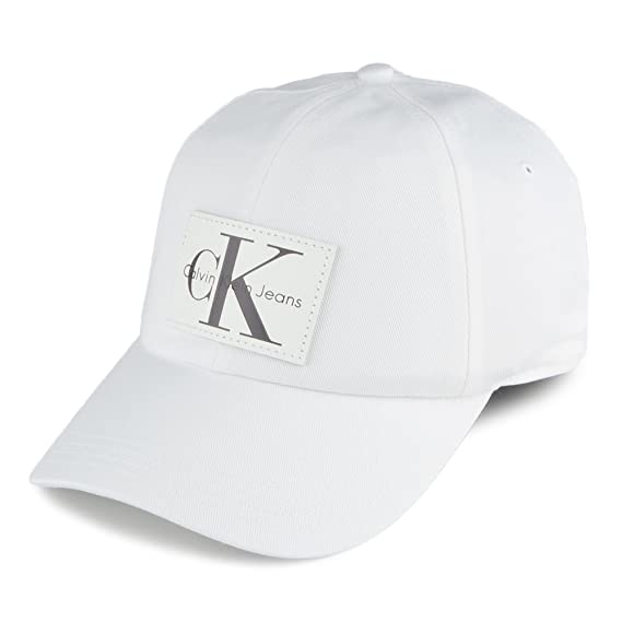 b9aa3a23d02 Calvin Klein Men s Baseball Cap - White - One Size  Amazon.co.uk  Clothing