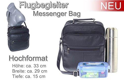 Schultertasche Aktentasche Flugbegleiter Laptop Umhängetasche Business Messenger Bag Notebook Tasche Black NEU
