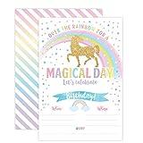 Unicorn Birthday Invitation, Unicorn Party Invite 20 Fill In Style with Envelopes