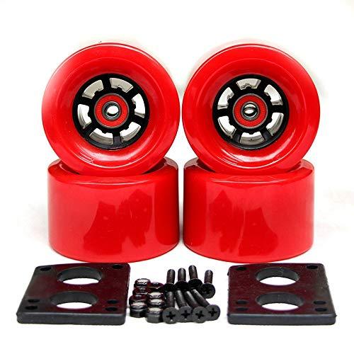 LSSCWQ 2019 New Top Longboard Wheels Electric Skateboard 78A 9052mm Wheels ABEC-9 Bearings Bushings Hardware Gasket Skateboard Parts