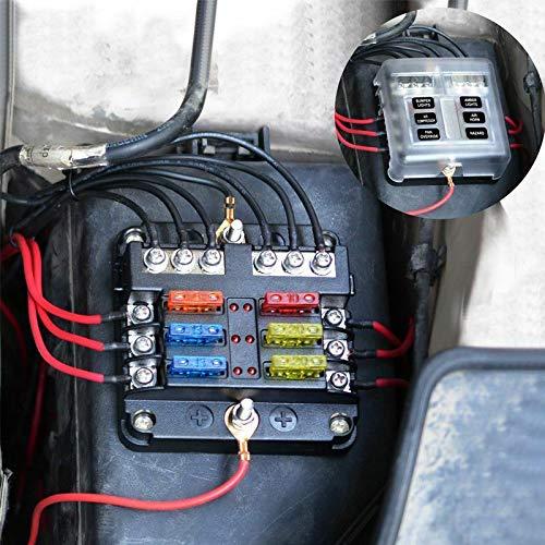 fidgetgear6-way auto blade fuse box block holder with: amazon.in:  electronics  amazon.in