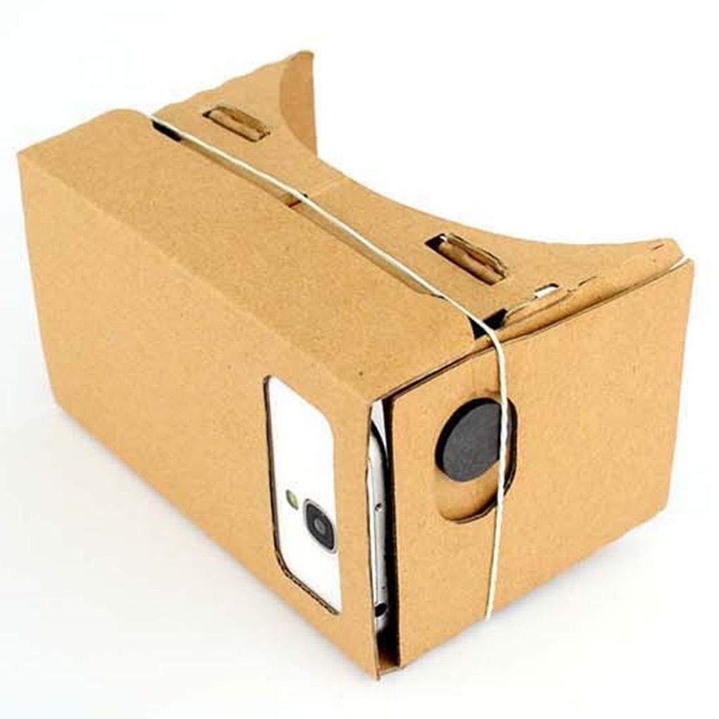 Zerama Cartón 3D VR Gafas de Realidad Virtual, la película de Videojuegos VR Headset