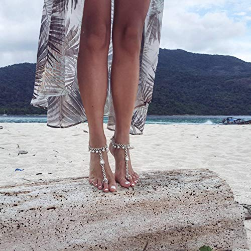 Beach Wedding, Barefoot Sandals, Bridal Pearl Anklet, Bridal Sandals, Beaded Anklet, Foot Jewelry, Bridal Shower Gift, Bridal Shoes/OTTILIE/