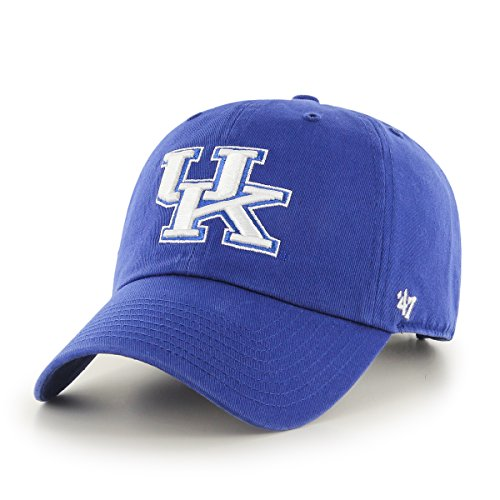 Wildcats Blue Kentucky New ('47 NCAA Kentucky Wildcats Clean Up Adjustable Hat, Royal, One Size)